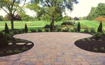 Custom Paver Patio Installation at Golf Course